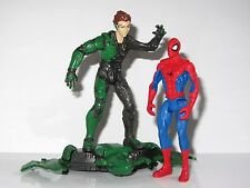 "Marvel 4""  Toy Figure Set   SPIDER-MAN vs THE GREEN GOBLIN with GLIDER"