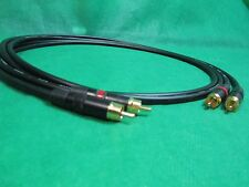 1 Ft Pair Canare L4E6S Black Star Quad RCA to RCA HIFI Audio Cable.