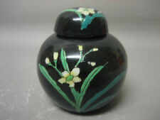 Vintage Japanese / Chinese hand painted ginger jar