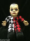 Spooky Harlequin Toy TALKING CREEPY HELLEQUIN CLOWN DOLL Horror Prop Decoration