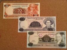 Nicaragua banknote collection