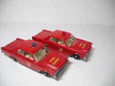 TWO Matchbox #55/59C Resto-Mods Rare Ford Galaxie Fire Chiefs. DOME SWAPS