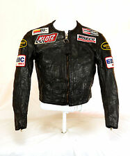 Vanson ACE Biker Moto Giacca di pelle Ltd. Edition PATCH NERO MIS. 48 M Top