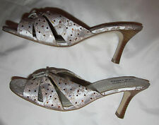 STEVE MADDEN P KISS satin silver asian dragon floral print pin up shoes 8.5 NEW