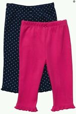 AUTH.BNWT CARTER'S BABY GIRL'S 2 PACK PANT LEGGINGS (18 MOS.)