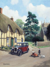 Austin 7 Seven Box Saloon Traditional Nostalgic Car Birthday Card