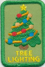 Girl Boy Cub Christmas TREE LIGHTING trim Fun Patches Crests Badges SCOUTS GUIDE