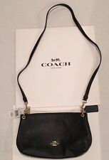 COACH Pebbled Leather Cross-body / Shoulder Bag Black F55661