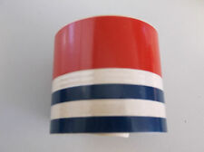"NOS 1' US MARINE BOAT 2"" RED TAN NAVY STRIPE TAPE"