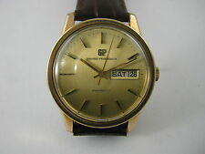 VINTAGE GIRARD PERREGAUX GYROMATIC GOLD PLATED DAY AND DATE MEN'S WATCH 70's