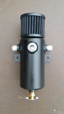 Baffled Aluminum Breather Tank / Oil Catch Can Tube 3 Port -10 AN