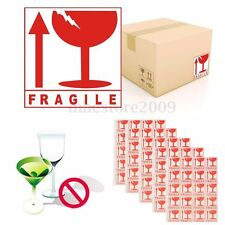 100 Pcs FRAGILE Caution Sign Packing Self Adhesive Sticker For Warning Notice 5*