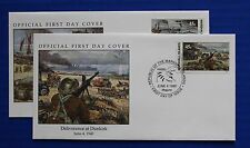 Marshall Islands (252-253) 1990 WWII: Deliverance at Dunkirk Official FDCs