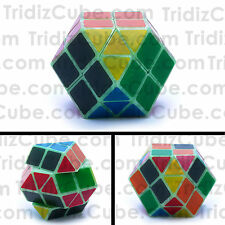 YJ Rainbow Puzzle Cube Glow in the Dark Twisty Dino Cube Shape Mod - US Seller -
