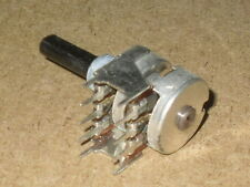 Radio/Electronics/Amplifier.  Twin Gang Potentiometer. With Bracket.  NOS.