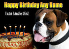 PERSONALISED BOXER DOG BIRTHDAY CARD Your own text inside & out + Illus Insert