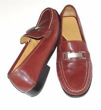 COLE HAAN~GENUINE LEATHER~METAL BUCKLE~COMFORT DRESSY SLIP-ON LOAFER SHOES~8.5