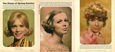 1968 vintage magazine hairstyle photos, 'The Shape of Spring' very 60s! -031414