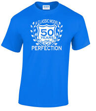 50th Birthday T-Shirt Men's Classic Model XL Royal Blue 1 Only Special Offer
