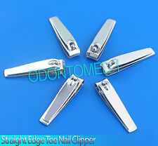 "New 3 1/4"" 100 % Straight Edge Toe Nail Clipper Pedicure Tool 6 pcs lot"