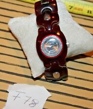 SUPER COOL AUTHENTIC DIESEL Stainless Steel RED Women's Watch DZ5074 F78