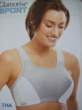Bra Glamorise 1166 Double Layer Magic Lift Sports Bra Grey & Black 40 G New
