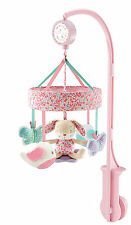 Mothercare Garden Explorer Mobile nursery bed cot baby pink girl bunny rabbit