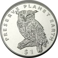 elf  Eritrea 1 Dollar 1995 Cape Eagle Owl  Bird