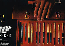 PUBLICITE ADVERTISING  1968   PARKER  stylos   ( 2 pages)