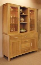 Haddon solid oak dining room furniture large china cutlery dresser
