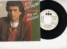 TOTO CUTUGNO disco 45 giri CANTA in SPAGNOLO L'italiano PROMO made in SPAIN