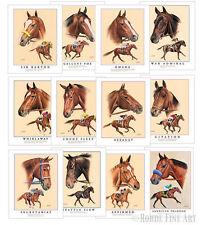 ALL 12 TRIPLE CROWN WINNERS horse racing ART SET DEAL! - AMERICAN PHAROAH 8x10s