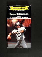 Roger Staubach Dallas Cowboys Football Player Greatest Sports Lengends VHS Tape