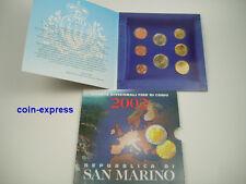 *** EURO KMS SAN MARINO 2002 Stempelglanz OFFIZIELL BU Coin Set Kursmünzensatz *