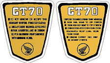 CT70 K2 k3 CT-70H  1972-1973 frame decals, graphics, Side Badges  YELLOW