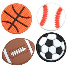 OPTARI SPORTS BASKETBALL BASEBALL FOOTBALL SOCCER Shoe Fobbz Charms - 4 Pac
