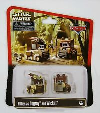 Disney Pixar Exclusive Star Wars CARS Pitties as Logray and Wicket