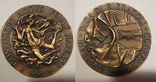 medaglia costruzione diga Ridracoli consorzio acque Forlì Ravenna Minguzzi 80mm