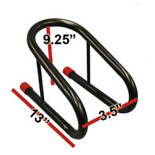 """3.5 """" BLACK MOTORCYCLE TIRE WHEEL CHOCK REMOVABLE CHOCKS FOR TRAILER"""