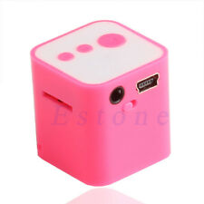 Mini Cube USB MP3 Player Support 32GB Micro SD TF Card Music Media +Earphone