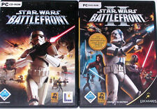 PC STAR WARS BATTLEFRONT 1 + 2 1 - 2  Komplett Deutsch beide Teile Star Wars PC