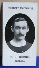 1907/08 Taddy Cigarette Card - Prominent Footballers Chelsea Player E. L. Birnie