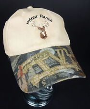 Priour Ranch  OilField Camo Cap Hat Velcro Texas Deer Exotic Game