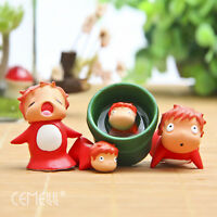 Lot Of 4 Studio Ghibli Ponyo On The Cliff Resin Figures Micro Landscape Dolls
