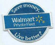 Wal mart Private fleet driver patch save money live better 3 X 3-1/2