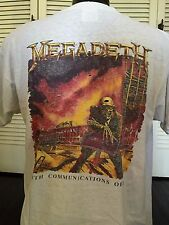 Rare Vtg 91 Megadeth Hard Rock Tour Shirt Sz XL Slayer Speed Thrash Metal