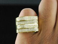 Mens Brass 14k Yellow Gold Finish Hip Hop Micro Pave Iced Out Pinky Ring Size 12