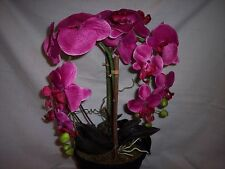 "Silk Orchid Arrangement, 22"" Tall x 10"" Wide, 8""D x 7""T Pot, Double Stem"