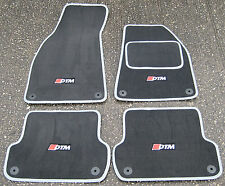 "Deluxe Car Mats in Dark Grey/Silver to fit Audi A4 (2001-2008) + ""DTM"" Logos (4)"