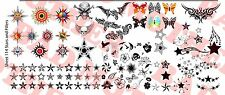 1/6 Scale Custom Tattoos: Stars and Fillers Variety Pack - Waterslide Decals